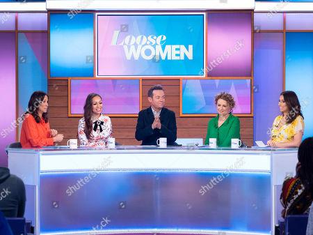 Andrea McLean, Rebecca Ferguson, Stephen Mulhern, Nadia Sawalha and Stacey Solomon