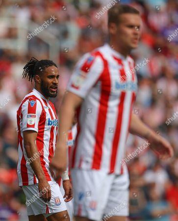 Centre back pairing Ashley Williams and Ryan Shawcross of Stoke City