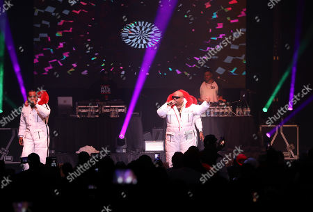 CeeLo Green, Big Gipp, Khujo, T-Mo. CeeLo Green, Big Gipp, Khujo and T-Mo with Goodie Mob performs during the Dungeon Family Reunion Tour 2019 at The Fox Theatre, in Atlanta