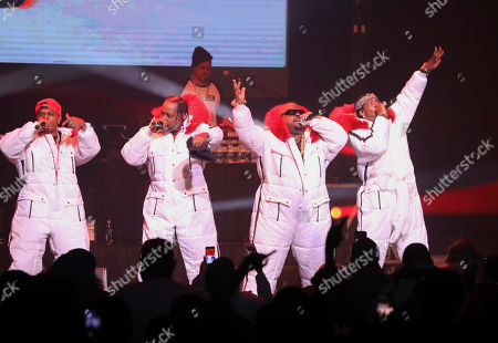 Stock Image of CeeLo Green, Big Gipp, Khujo, T-Mo. CeeLo Green, Big Gipp, Khujo and T-Mo with Goodie Mob performs during the Dungeon Family Reunion Tour 2019 at The Fox Theatre, in Atlanta