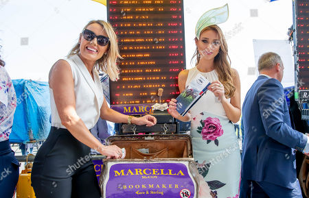 Bookmaker Marcella McCoy with Una Healy, Judge for the Dunboyne Castle Most Stylish Lady competition