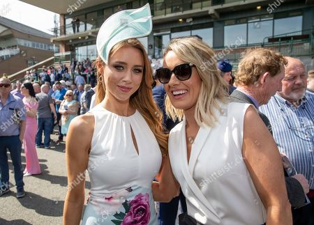 Una Healy, Judge for the Dunboyne Castle Most Stylish Lady competition with bookmaker Marcella McCoy