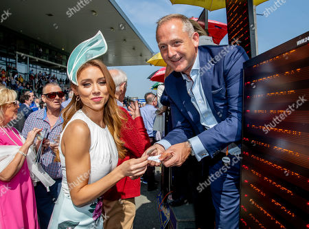 Una Healy, Judge for the Dunboyne Castle Most Stylish Lady competition with bookmaker Ray Mulvaney