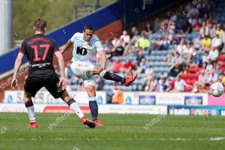 Jack Rodwell of Blackburn Rovers shoots at goal