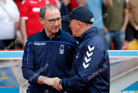 Middlesbrough Manager, Tony Pulis meets Nottingham Forest Manager Martin O'Neill
