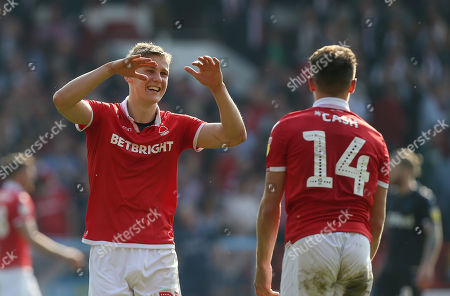 Nottingham Forest's Ryan Yates celebrates the victory