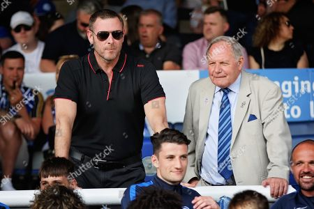 Peterborough co-owner Darragh MacAnthony and Director of Football Barry Fry before the EFL Sky Bet League 1 match between Peterborough United and Sunderland at London Road, Peterborough
