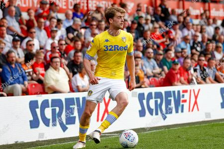 Leeds United forward Patrick Bamford (9)  during the EFL Sky Bet Championship match between Brentford and Leeds United at Griffin Park, London