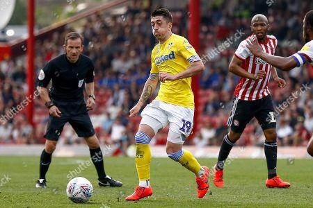 Leeds United midfielder Pablo Hernandez (19)  during the EFL Sky Bet Championship match between Brentford and Leeds United at Griffin Park, London
