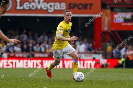 Leeds United midfielder Adam Forshaw (4)  during the EFL Sky Bet Championship match between Brentford and Leeds United at Griffin Park, London