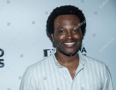 Stock Picture of Faraday Okoro attends the AT&T Presents: Untold Stories luncheon, in conjunction with the Tribeca Film Festival, at Thalassa, in New York