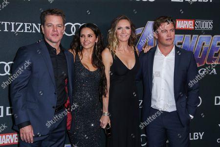 Matt Damon, Luciana Damon, Samantha Hemsworth and Luke Hemsworth