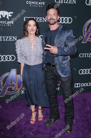 Stock Picture of Wendy Moniz and Frank Grillo