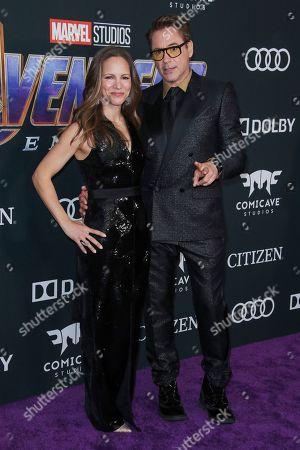 Stock Photo of Robert Downey Jr. and Susan Downey