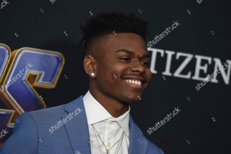 """Aubrey Joseph arrives at the premiere of """"Avengers: Endgame"""" at the Los Angeles Convention Center on"""