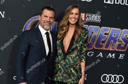 """Josh Brolin, Kathryn Boyd. Josh Brolin, left, and Kathryn Boyd arrive at the premiere of """"Avengers: Endgame"""" at the Los Angeles Convention Center on"""