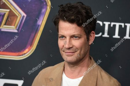 """Nate Berkus arrives at the premiere of """"Avengers: Endgame"""" at the Los Angeles Convention Center on"""