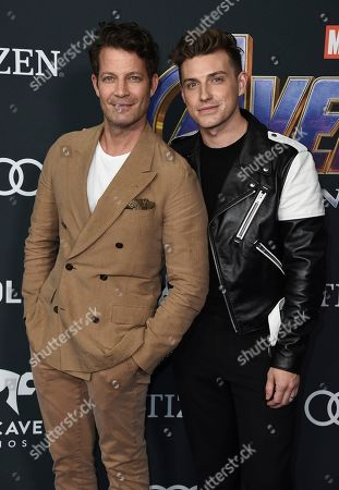 """Nate Berkus, Jeremiah Brent. Nate Berkus, left, and Jeremiah Brent arrive at the premiere of """"Avengers: Endgame"""" at the Los Angeles Convention Center on"""