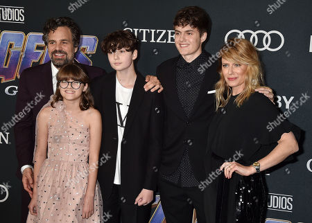 Mark Ruffalo, Sunrise Coigney and family