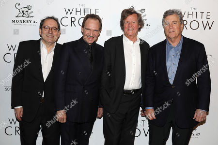 Michael Barker (Co-Pres; SPC), Ralph Fiennes (Director), David Hare (Writer) and Tom Bernard (Co-Pres; SPC)