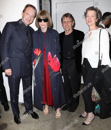 Ralph Fiennes (Director), Anna Wintour, Mikhail Baryshnikov and Lisa Rinehart