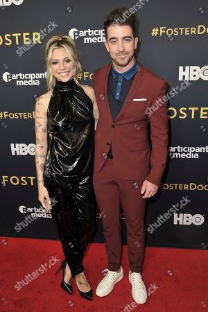 "Christina Perri, Paul Costabile attend the LA premiere of ""Foster"" at Linwood Dunn Theater, in Los Angeles"
