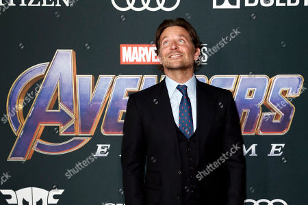 Bradley Cooper poses for photographers upon his arrival for the premiere of 'Avengers: Endgame' at the LA Convention Center in Los Angeles, California, USA, 22 April 2019. 'Avengers: Endgame' will be released US theaters on 26 April.