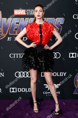Karen Gillan poses for photographers upon her arrival for the premiere of 'Avengers: Endgame' at the LA Convention Center in Los Angeles, California, USA, 22 April 2019. 'Avengers: Endgame' will be released US theaters on 26 April.