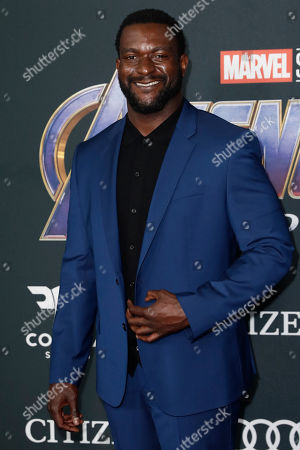 Michael James Shaw poses for photographers upon his arrival for the premiere of 'Avengers: Endgame' at the LA Convention Center in Los Angeles, California, USA, 22 April 2019. 'Avengers: Endgame' will be released US theaters on 26 April.
