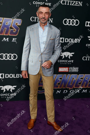 Shaun Toub poses for photographers upon his arrival for the premiere of 'Avengers: Endgame' at the LA Convention Center in Los Angeles, California, USA, 22 April 2019. 'Avengers: Endgame' will be released US theaters on 26 April.