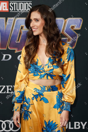 Natasha Halevi poses for photographers upon her arrival for the premiere of 'Avengers: Endgame' at the LA Convention Center in Los Angeles, California, USA, 22 April 2019. 'Avengers: Endgame' will be released US theaters on 26 April.