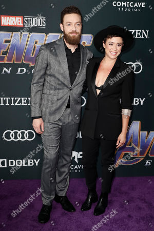Ross Marquand (L) and actress Briana Venskus (R) pose for photographers upon their arrival for the premiere of 'Avengers: Endgame' at the LA Convention Center in Los Angeles, California, USA, 22 April 2019. 'Avengers: Endgame' will be released US theaters on 26 April.