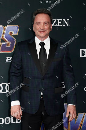 Stock Photo of Movie producer and Marvel studio co-president Louis D'Esposito poses for photographers upon his arrival for the premiere of 'Avengers: Endgame' at the LA Convention Center in Los Angeles, California, USA, 22 April 2019. 'Avengers: Endgame' will be released US theaters on 26 April.