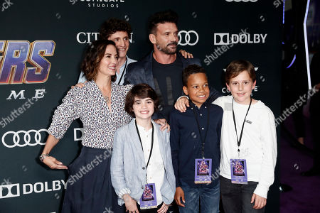 Frank Grillo (C) and his wife US actress Wendy Moniz (L) pose for photographers with guests upon their arrival for the premiere of 'Avengers: Endgame' at the LA Convention Center in Los Angeles, California, USA, 22 April 2019. 'Avengers: Endgame' will be released US theaters on 26 April.