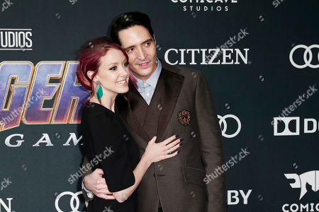 David Dastmalchian and film art director Evelyn Leigh (L) pose for the photographers upon their arrival for the premiere of 'Avengers: Endgame' at the LA Convention Center in Los Angeles, California, USA, 22 April 2019. 'Avengers: Endgame' will be released in US theaters on April 26.