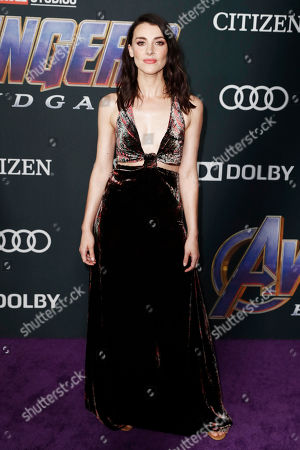 Emma Lahana poses for the photographers upon her arrival for the premiere of 'Avengers: Endgame' at the LA Convention Center in Los Angeles, California, USA, 22 April 2019. 'Avengers: Endgame' will be released in US theaters on April 26.