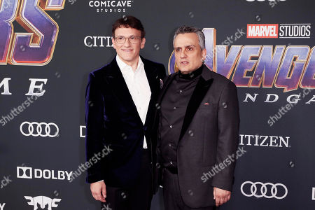 Anthony Russo (L) and Joe Russo pose for the photographers upon their arrival for the premiere of 'Avengers: Endgame' at the LA Convention Center in Los Angeles, California, USA, 22 April 2019. 'Avengers: Endgame' will be released in US theaters on April 26.