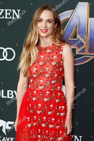 Kerry Condon poses for the photographers upon her arrival for the premiere of 'Avengers: Endgame' at the LA Convention Center in Los Angeles, California, USA, 22 April 2019. 'Avengers: Endgame' will be released in US theaters on April 26.