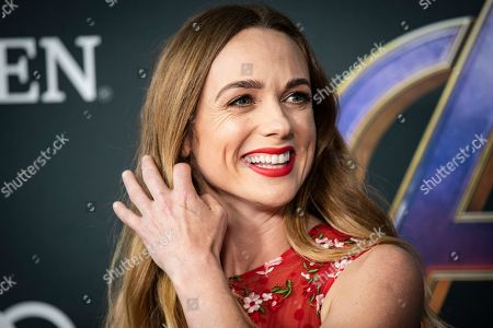 Kerry Condon poses for the photographers upon her arrival for the premiere of 'Avengers: Endgame' at the LA Convention Center in Los Angeles, California, USA, 22 April 2019. 'Avengers: Endgame' will be released in US theater on April 26.
