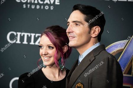 Stock Image of David Dastmalchian and film art director Evelyn Leigh pose for the photographers upon their arrival for the premiere of 'Avengers: Endgame' at the LA Convention Center in Los Angeles, California, USA, 22 April 2019. 'Avengers: Endgame' will be released in US theater on April 26.