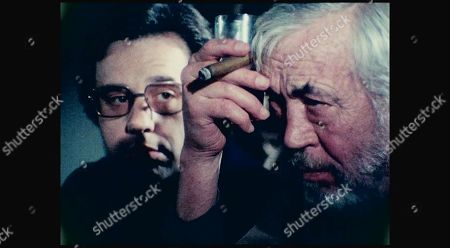 Stock Picture of Peter Bogdanovich and John Huston
