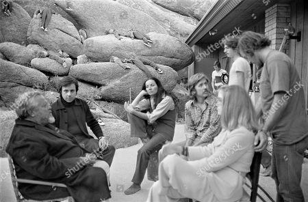 Orson Welles, Peter Bogdanovich, Oja Kodar and Gary Graver