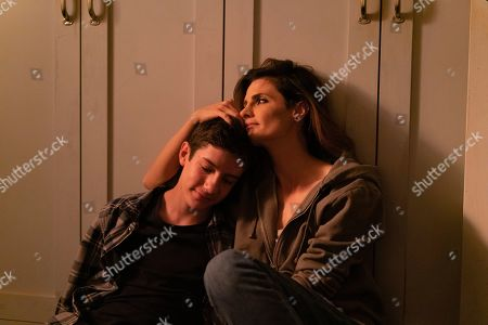 Patrick McAuley as Flynn Durand and Stana Katic as Emily Byrne