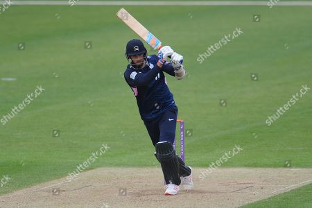 Steven Finn of Middlesex batting during the Royal London One Day Cup match between Hampshire County Cricket Club and Middlesex County Cricket Club at the Ageas Bowl, Southampton