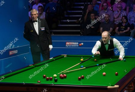 Graeme Dott of Scotland at the table during his first round match