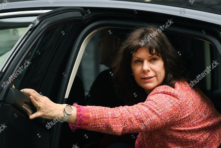 British Minister of State for Energy and Clean Growth, Claire Perry arrives for a Cabinet meeting at Downing Street in London, Britain, 23 April 2019. Media reports on 23 April 2019 state that British Prime Minister Theresa May faces a no-confidence challenge as more than 70 local Conservative association chiefs have called for a National Conservative Convention extraordinary general meeting (EGM) to discuss her leadership and a non-binding vote is to be held at the gathering.