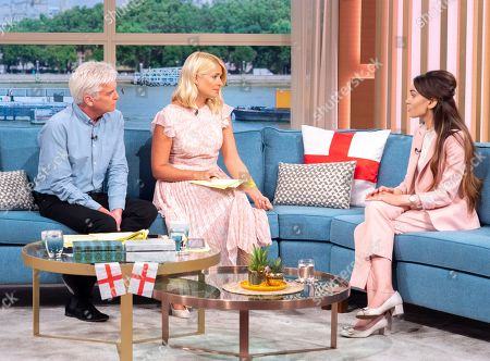 Phillip Schofield and Holly Willoughby with Shila Iqbal