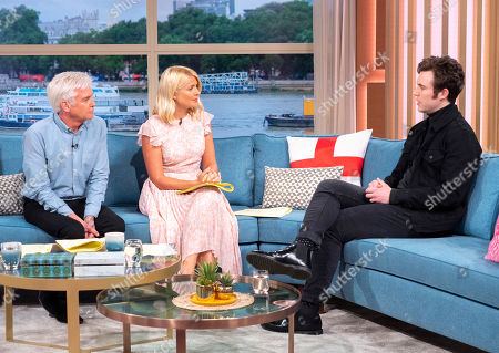 Phillip Schofield and Holly Willoughby with Tom Hughes