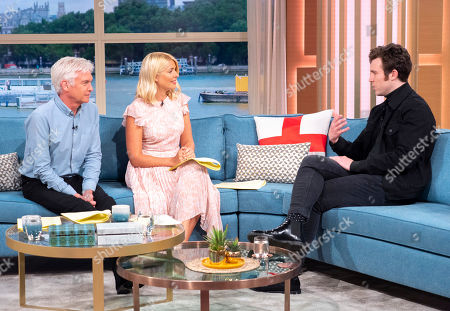 Stock Image of Phillip Schofield and Holly Willoughby with Tom Hughes