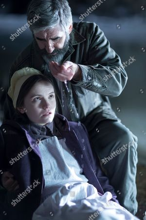 Abigail Lawrie as Anna Worth and John Lynch as Johan Nickel